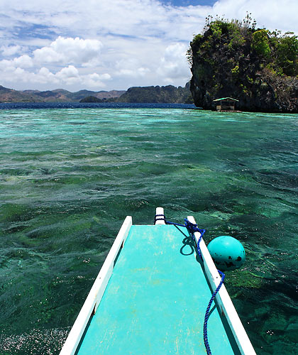 the snorkeling area at Twin Peaks Reef, Coron