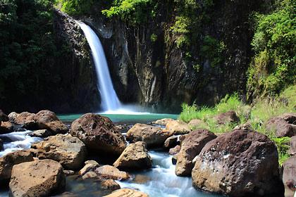 Tinago Falls in Caibiran, Biliran