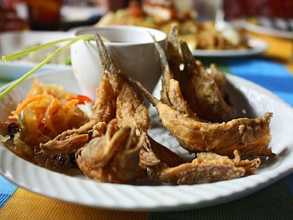 crispy biya at Chef Mau Restaurant, Liliw, Laguna