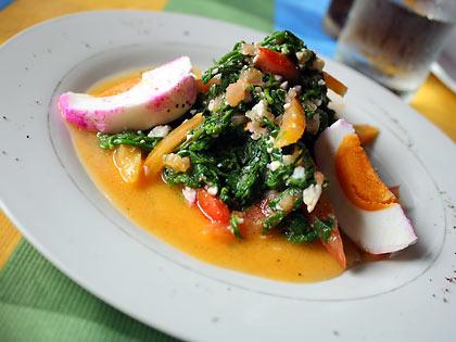 paco or fiddlehead fern salad at Chef Mau Restaurant