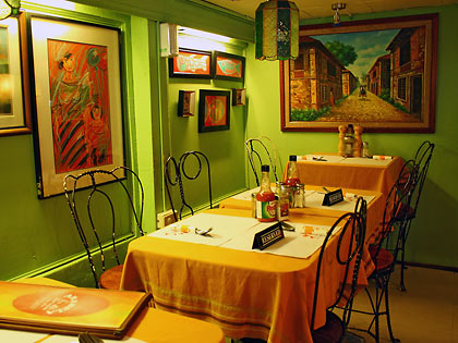 interior of Arabela Restaurant in Liliw town