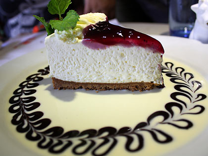 Arabela's blueberry cheesecake