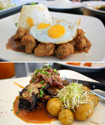 Crispy Tenderloin Tapsilog and Coffee-Crusted Beef Belly
