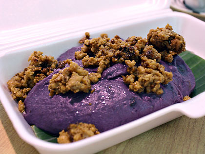 Halayang ube or purple yam fudge